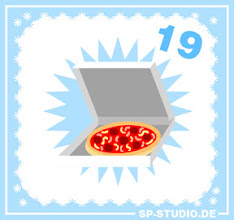 Photo: Guess what I have been eating today: a pizza! And this inspired me to draw one for www.sp-studio.de.