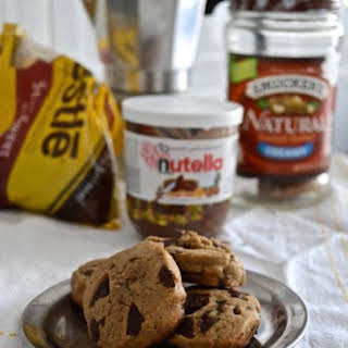Peanut Butter Nutella Chocolate Chip Cookies.