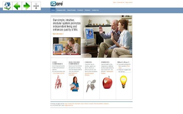 iQare Fullscreen Site Navigation