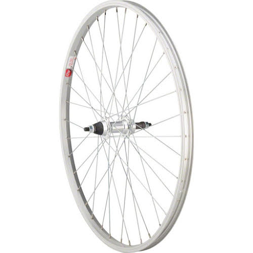 "Sta-Tru Rear Wheel 26x1.5"" Solid Thread on Axle with 36 Spokes 5-8 Speed, Incl"