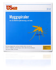Myggspiral US622 10pack