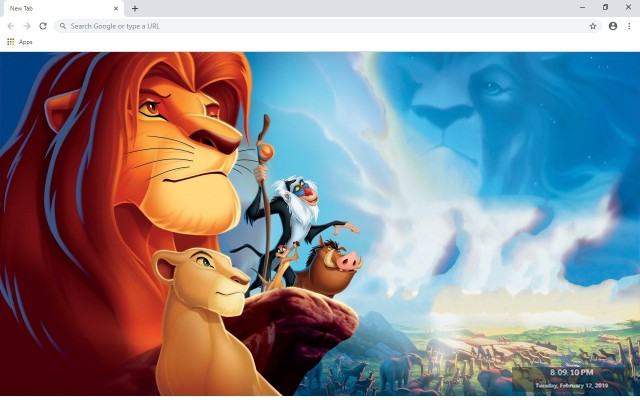 The Lion King New Tab & Wallpapers Collection