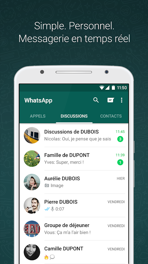 WhatsApp Messenger – Capture d'écran