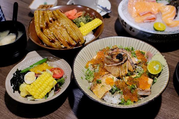 羽笠食事處☞連2訪的台中日式料理專賣店!台中生魚片、 炙燒丼飯、   燒烤定食!