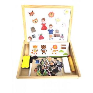 Puzzle cu tabla magnetica, Lumea animalelor
