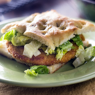 Chicken Sandwich Milanese on Focaccia.