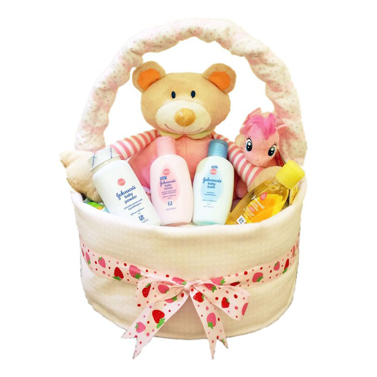 Baby Girl Gift Basket Diaper Cake by G-Ray Florist