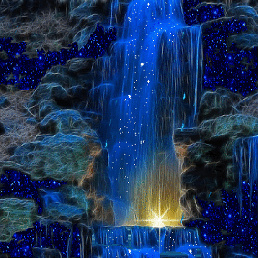 Magic Blue Fall LWP
