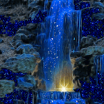 Magic Blue Fall LWP 2 Apk