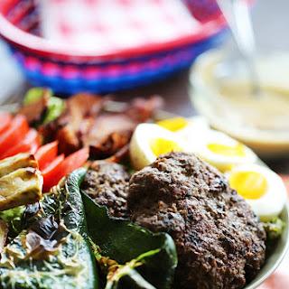 Burger Salad with Mustard Vinaigrette Recipe