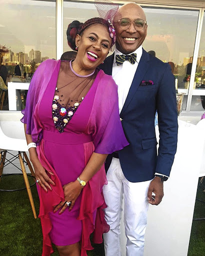 Basetsana Kumalo and her husband Romeo.