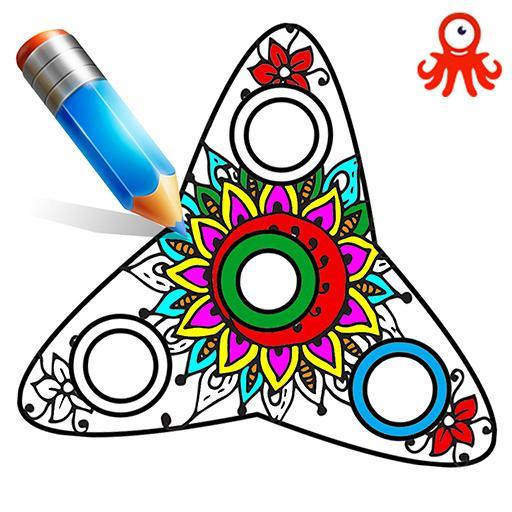 Fidget Spinner Mandala Coloring Book