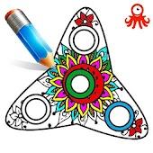 Tải Fidget Spinner Mandala Coloring Book APK
