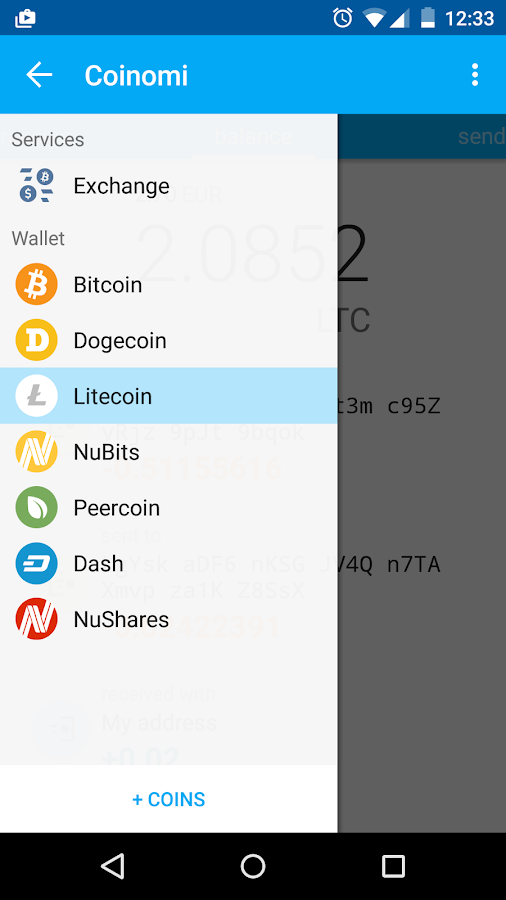 Coinomi Wallet :: Bitcoin Ethereum Altcoins Tokens- screenshot