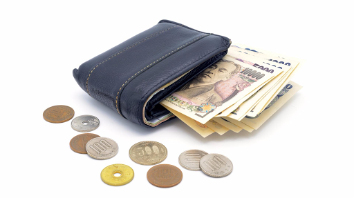 portefeuille japonais yens argent billets
