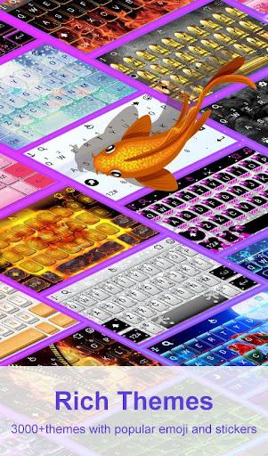 3D Blue Glass Water Keyboard Theme 6.12.22.2018 screenshots 6