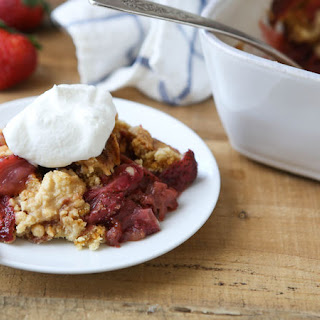 Strawberry-Rhubarb Dump Cake Recipe