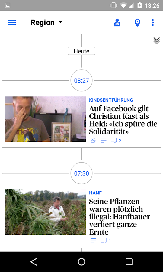az Solothurner Zeitung News- screenshot