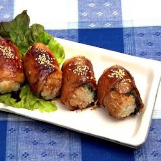 Grill pork Onigiri.
