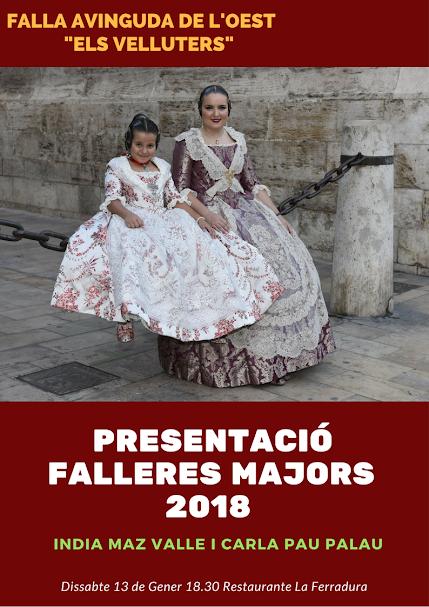 """Presentación FFMM falla Avinguda de L´Oest """"Els Velluters"""""""