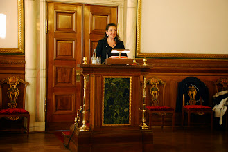 Photo: Yildiz Akdogan at the City Hall of Copenhagen