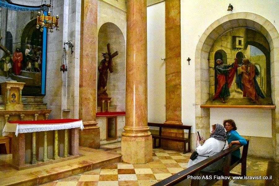 Иерусалим, Старый город.  Улица Виа Долороза. Вторая Станция Возложения креста. Индивидуальная экскурсия с гидом в Иерусалиме.