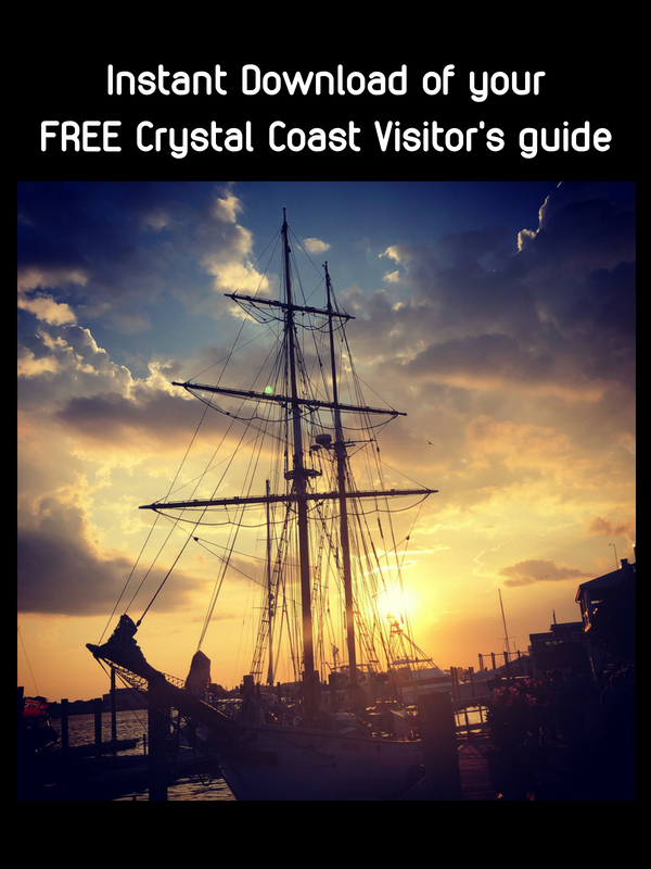 Click here to get your FREE Crystal Coast Visitor's Guide and Travel Planner