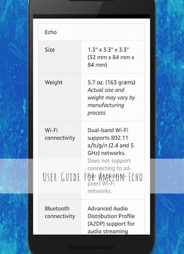 User Guide for Amazon Echo 1.0 screenshots 4