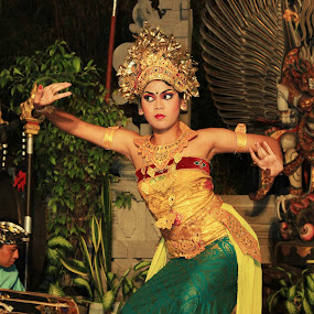 Balinese dancer-1 by Philips Onggowidjaja - People Musicians & Entertainers