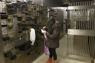 Photo: Audience members opened the safety deposit boxes to examine the objects and letters