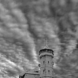 Klínovec by Jarka Hk - Buildings & Architecture Public & Historical ( sky, magical, beautiful, winter, frozen, clouds, building )