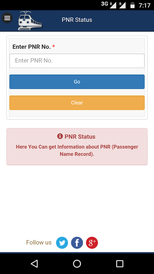how to check current status of train