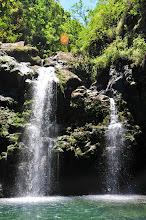 Photo: Two waterfalls at the Three Bears Waterfalls (on the Road to Hana).