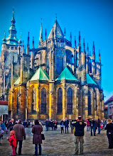 Photo: East end of St. Vitus Cathedral, Prague - February 2008