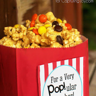 Peanut Butter Popcorn Teacher Gift with Printable Tag
