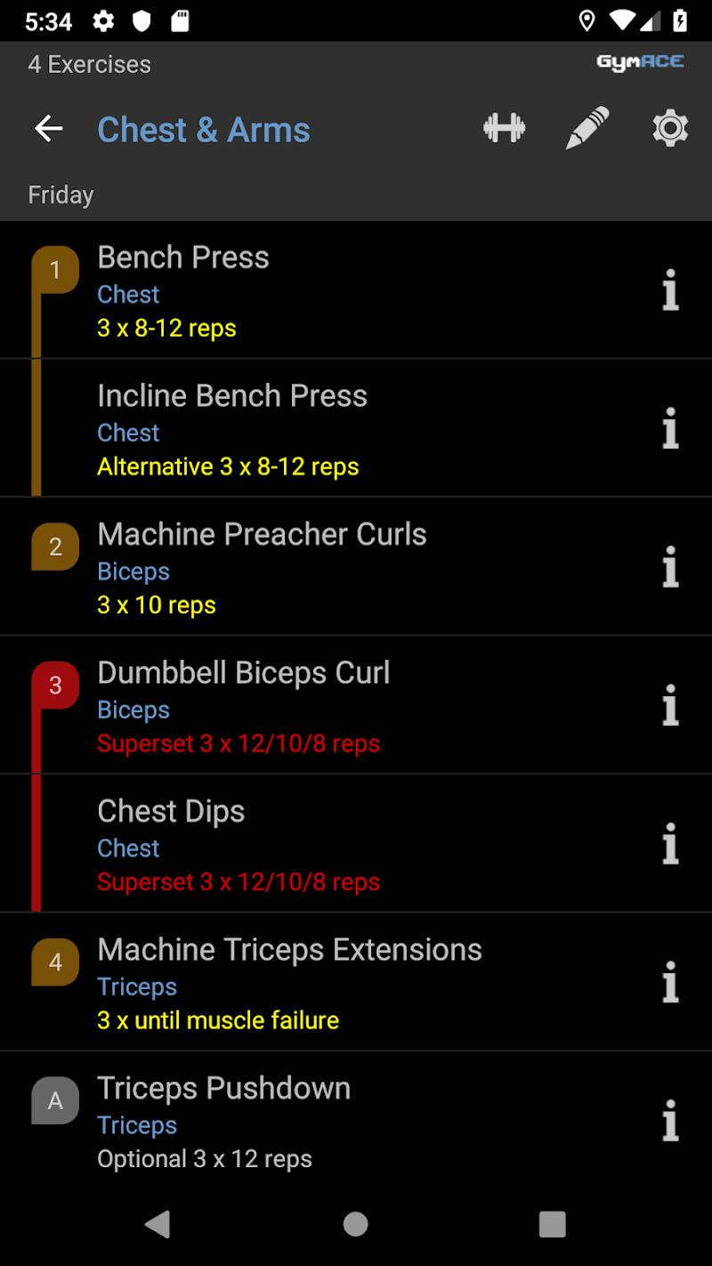 GymACE Pro: Workout Tracker & Body Log Screenshot 2