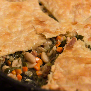 Kale and Bacon Skillet Pot Pie