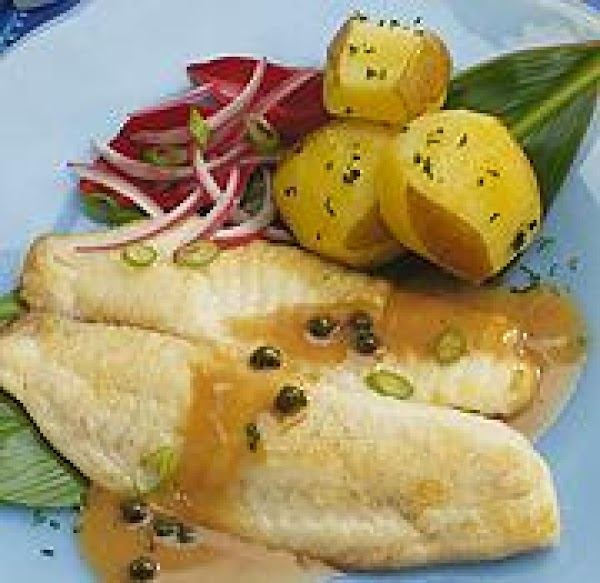 Tilapia In A Lemon Sauce With Capers Recipe