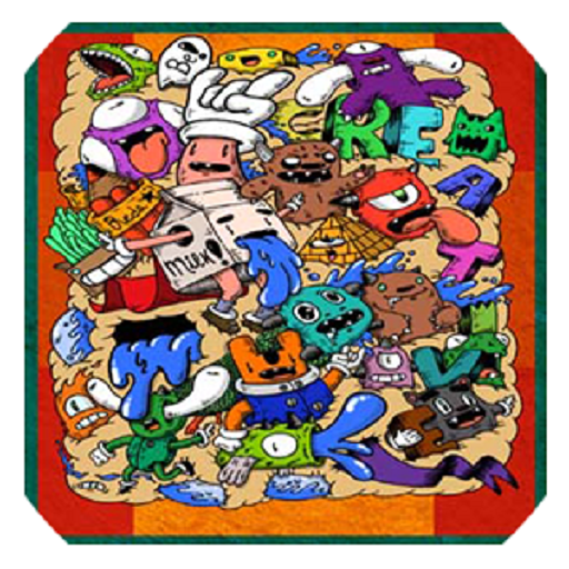Doodle Art Kertas Dinding 遊戲 App LOGO-硬是要APP
