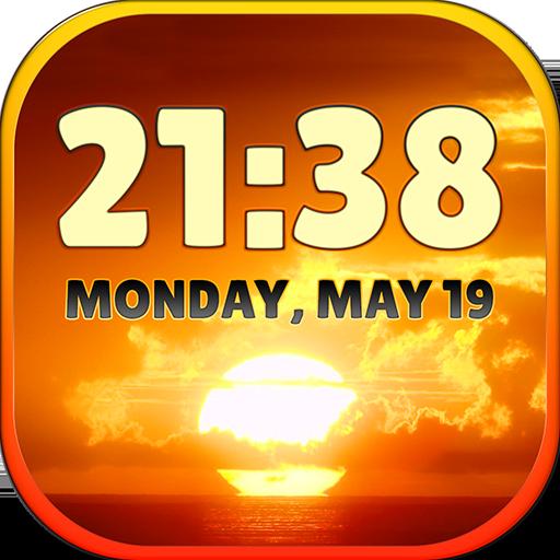 个人化のサンセット天気時計ウィジェット LOGO-記事Game