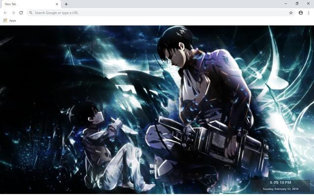 Attack On Titan Levi New Tab