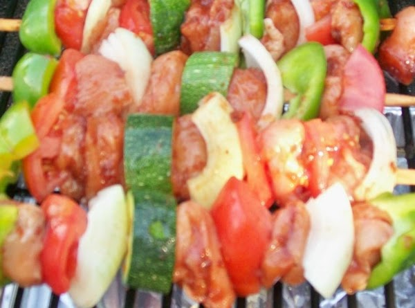 You can assemble the kabobs in any order you like…..but if you are using...