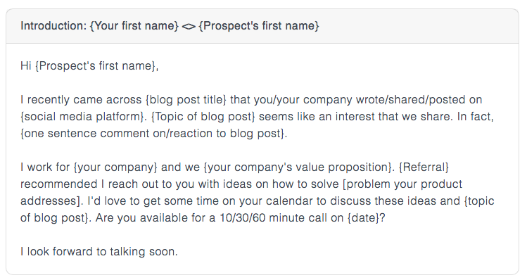 bring up a shared interest early on in your sales email.