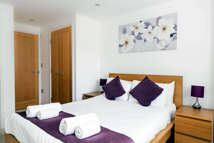 Luxury bedroom at The Atrium - Camberley