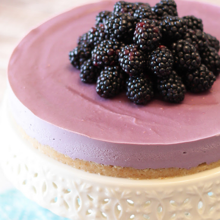 Gluten Free Vegan Blackberry Cheesecake Recipe