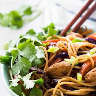 Honey Garlic Chicken Stir Fry Noodles.