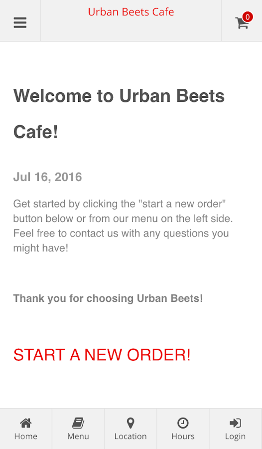 Urban Beets Cafe- screenshot