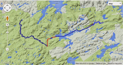 Photo: Map of our route. 40 miles, about.