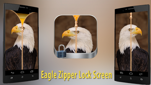 Eagle Zipper Lock Screen