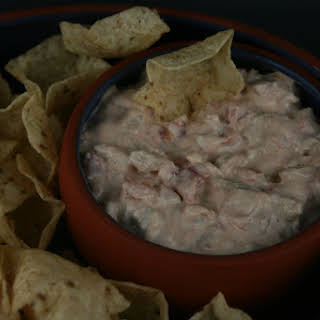 CrockPot Cream Cheese, Sausage, and Rotel Dip.